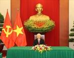チョン書記長、キューバ共産党の第一書記と電話会談