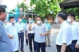 Phó Thủ tướng Chính phủ Vũ Đức Đam kiểm tra công tác phòng chống dịch COVID-19 tại Hà Nội