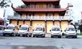 Giáo hội Phật giáo Việt Nam Thành phố Hồ Chí Minh tặng 10 xe cứu thương hỗ trợ phòng chống dịch COVID-19