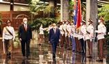Cérémonie daccueil en lhonneur du président Nguyen Xuan Phuc à Cuba