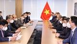 Chủ tịch nước Nguyễn Xuân Phúc tiếp các tập đoàn doanh nghiệp Hoa Kỳ