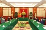 越共中央总书记阮富仲与中共中央总书记、国家主席习近平通电话