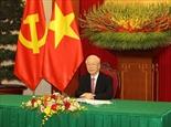 Генеральный секретарь ЦК КПВ Нгуен Фу Чонг провел телефонный разговор с генеральным секретарем ЦК КПК председателем КНР Си Цзиньпином