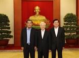 Vietnamese Cambodian Lao top leaders discuss cooperation orientations