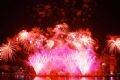 Presentación de fuegos artificiales de China.