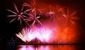 Presentación de fuegos artificiales de Australia.