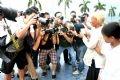 Bà Lưu Thị Đễ - người sở hữu tấm vé đầu tiên trước ống kính phóng viên.