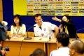 Huấn luyện viên đội tuyển Olympic Braxin Dunga tại buổi họp báo trước trận đấu