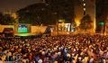 Tens of thousands of fans from Ho Chi Minh City come to the stadium of the Youth Cultural House in District 1 to watch the final match between Holland and Spain which is transmitted live on a large TV screen.