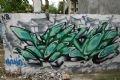 """Chữ """"Hà Nội"""" được thể hiện bằng nghệ thuật graffiti."""