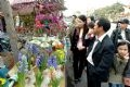 The flower market in Hanoi