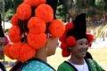 Attire of Hoa (flower) H'mong women in Dien Bien.