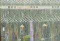 タイホア殿の屋根のレンガに落ちる雨だれ