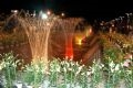 Da Lat flower festival at night.