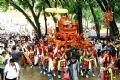 Une procession en l'honneur de la fête.