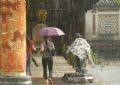 Vào nhà Hữu Vu sau điện Thái Hòa trú mưa.