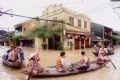 Cảnh ngập lụt tại thành phố Hội An.