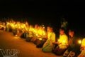 Cũng chính tại bãi biển này, cách đây 4 năm, dân làng chài Bình Minh, đã cùng nhau thắp nến cầu nguyện cho những người đã khuất trên biển vì cơn siêu bão Chanchu.