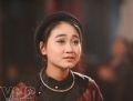 Cô đào nhí Thuỳ Chi của Giáo phường ca trù Thăng Long.