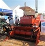 The 2-tank threshing machine with high capacity on display at the Rice Festival.
