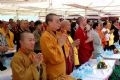 Vietnamese and international Buddhist delegates attend the inauguration ceremony of Bai Dinh Pagoda. Photo by Tien Dung