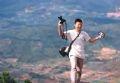 Phóng viên Hoàng Quang Hà trên cao nguyên Lang Bian