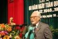 原河内抗战委员会主席阮文珍在集会上发表讲话。