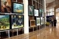 Exhibition on paintings in the Muong area.
