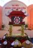 Khuê Văn Các, biểu tượng nghìn năm văn hiến của đất Thăng Long, được các nghệ nhân kết bằng trái cây để kỉ niệm 1000 năm Thăng Long - Hà Nội.