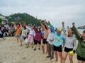 Quyết tâm bơi vượt biển vì màu xanh tươi đẹp của biển đảo Việt Nam.