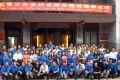越南百名青年代表团在中越青少年友好交流主题馆合影留念。