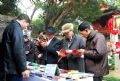 A stall selling poetic publications.