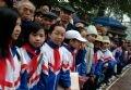 Les élèves de l'école primaire Hai Ba Trung pendant la fête 2005.