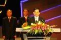 Chủ tịch nước Nguyễn Minh Triết phát biểu tại lễ trao giải.