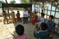 Một lớp mẫu giáo trên đồi cao của trẻ em dân tộc Hà Nhì ở xã Ma Li Chải (Phong Thổ - Lai Châu).