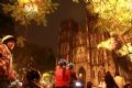 The Big Cathedral in Hanoi on Christmas night.