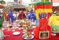 Các bậc trưởng lão làm lễ tế thành hoàng làng tại đình làng Hải Châu.