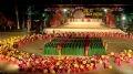 Торжественная церемония открытия праздника поминовения королей Хунгов на центральном стадионе города Вьетчи