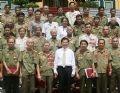 Chủ tịch nước Nguyễn Minh Triết gặp mặt Cựu chiến binh Tiểu đoàn K3 - Tam Đảo, những người từng tham gia chiến đấu 81 ngày đêm ở thành cổ Quảng Trị năm 1972.