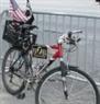 Велосипед ветерана, участвующего в мероприятиях Дня Памяти солдат, погибших в войне.