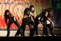 "Baby Cool Crew Band from Van Lang Secondary School, Ha Long, Quang Ninh perform a ""Hip hop show dance""."