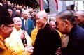 Most Venerable Thich Nhat Hanh visits the Vietnam Buddhist Shangha's branch in Ho Chi Minh City.