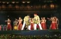 Performing on lithophone and stone panpipe by a Vietnamese art troupe.