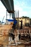 拜寨边引桥桥桩正在施工最后一节。
