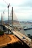 Bai Chay Bridge -- the centrally-supported concrete cable-stayed bridge – seen from the side of Hon Gai.