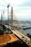 Вид на вантовый мост Байтьай с провинциального городка Хонгай