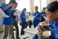 Обед у добровольцев