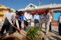 赴长沙岛县访问并种树纪念的代表团。