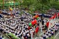 The jubilant atmosphere of the first day of the 2005-2006 school year in some schools in Hanoi.