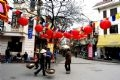 Старинная улица Ханоя весной